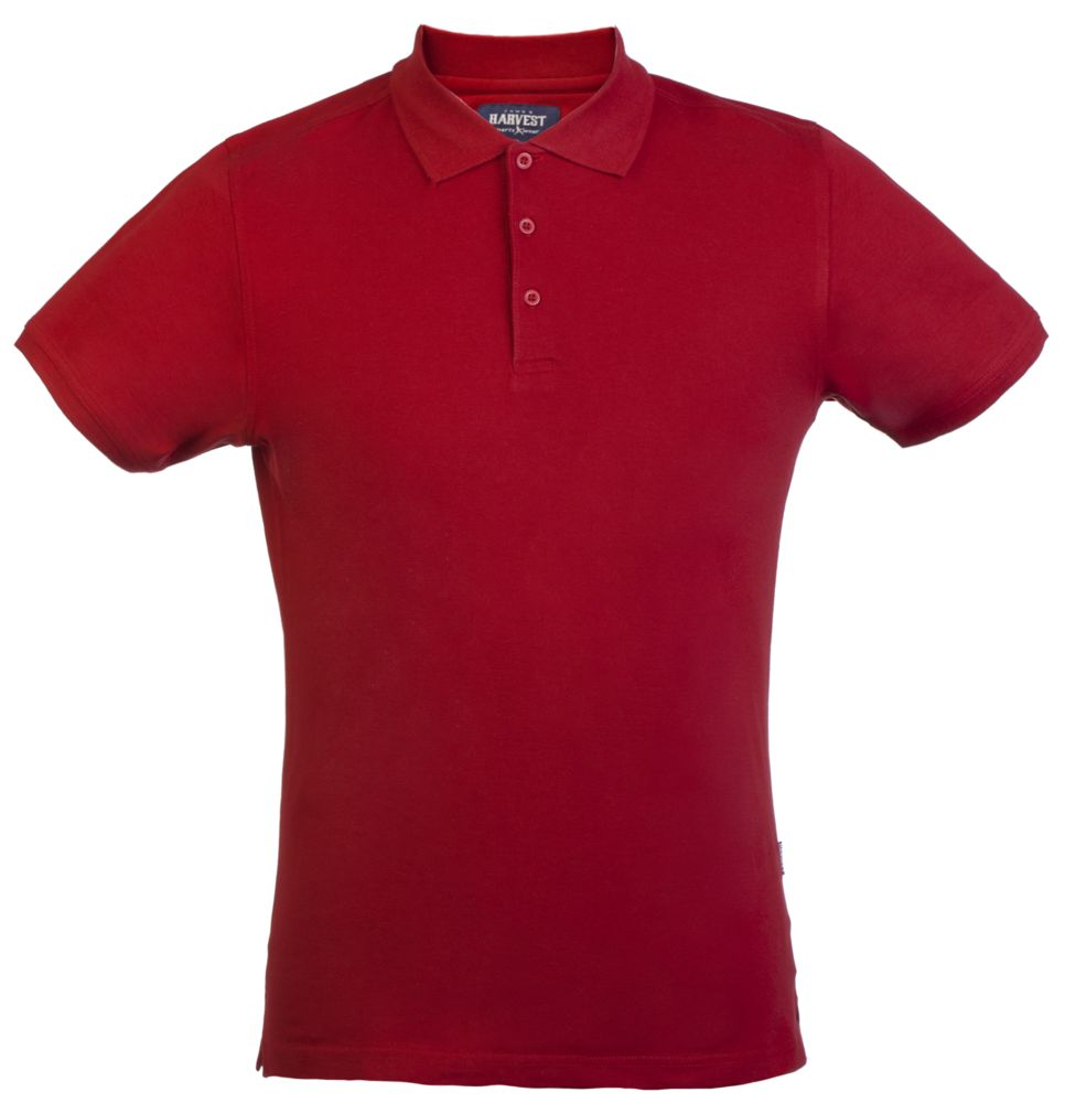 Рубашка поло стретч мужская EAGLE, красная, размер S фото