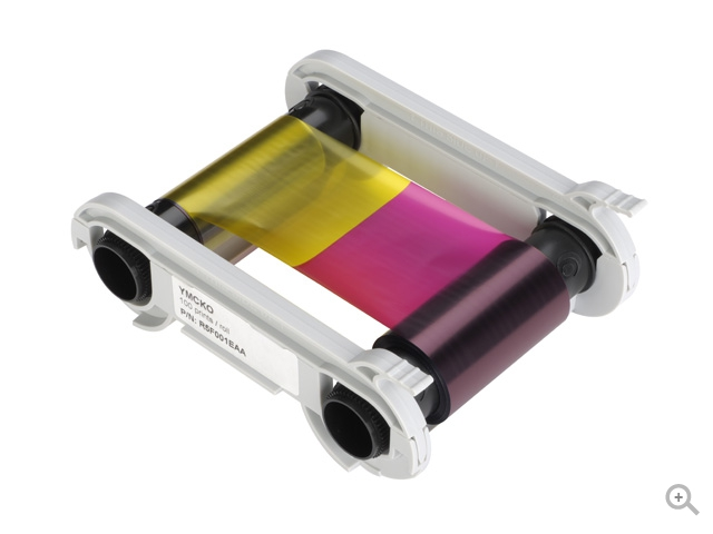 Полноцветная лента YMCKO R5F008EAA original evolis r3013 ymcko color ribbon for pebble dualys securion id card printer