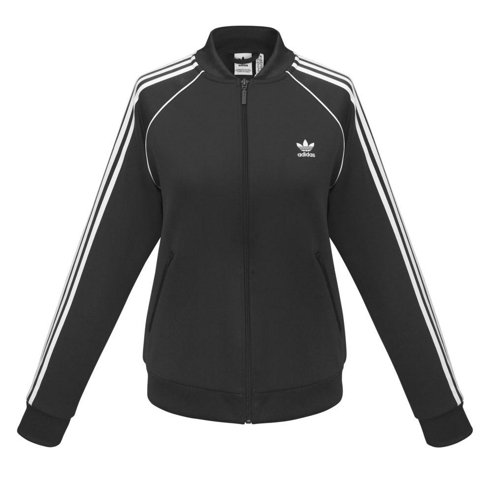 Куртка тренировочная женская на молнии SST TT, черная, размер XL куртка тренировочная женская на молнии sst tt синяя размер xl