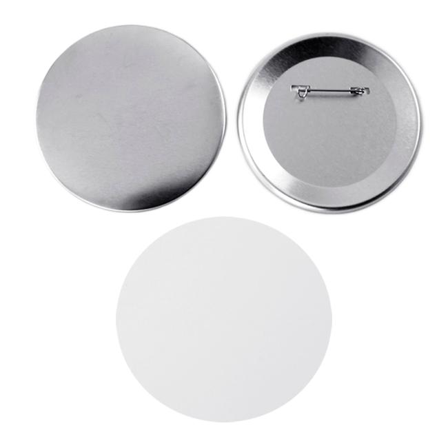 Фото - Заготовки для значков d65 мм, металл/булавка, 100 шт заготовки для значков button boss d25 мм 500 шт
