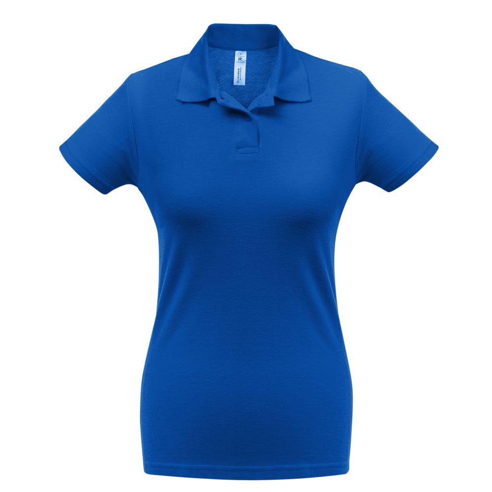 Рубашка поло женская ID.001 ярко-синяя, размер XXL рубашка поло id 001 зеленая размер xxl