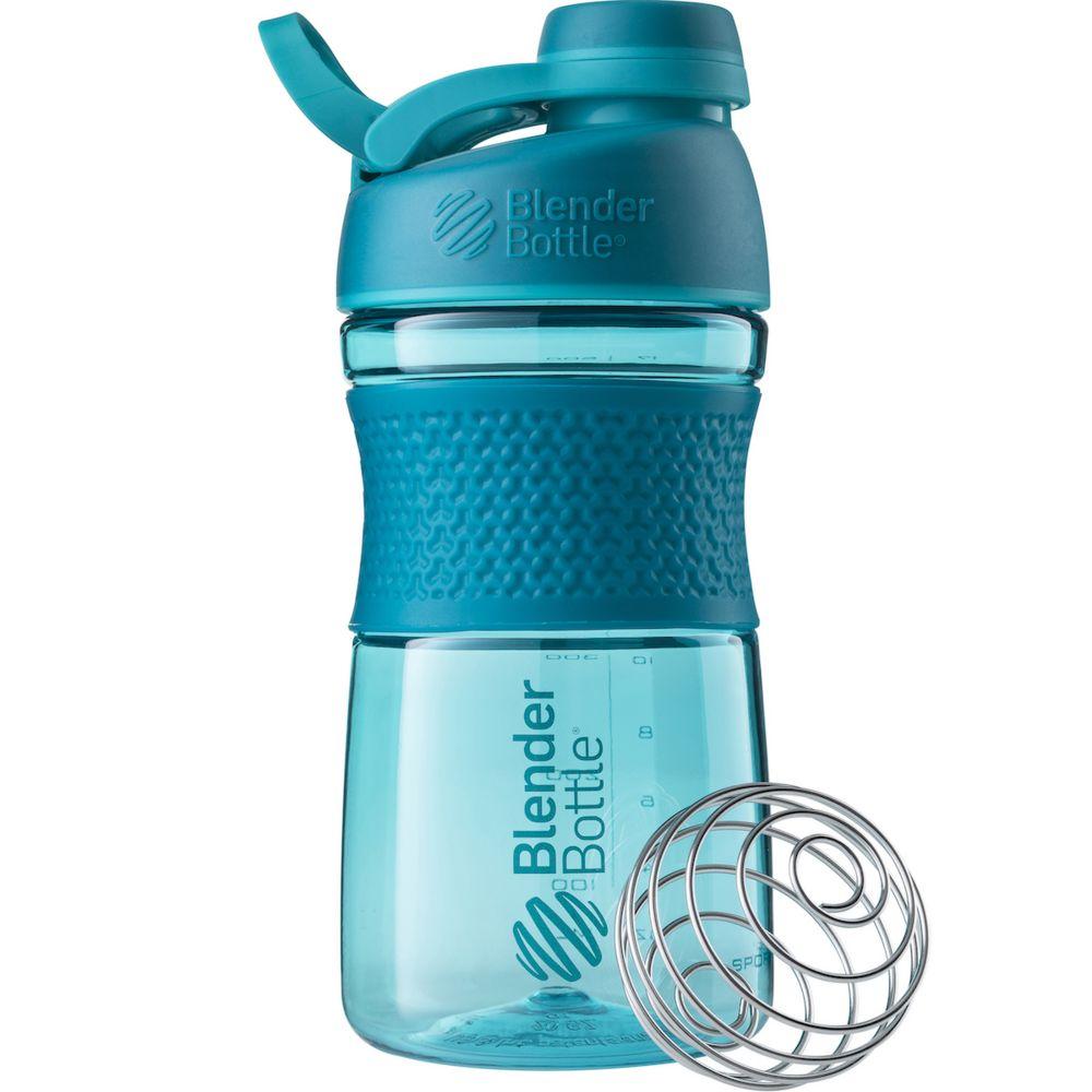 Спортивный шейкер SportMixer Twist Cap, морской голубой шейкер harper gym shaker bottle с венчиком цвет голубой 500 мл