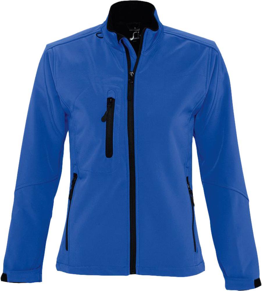 Куртка женская на молнии ROXY 340 ярко-синяя, размер XL куртка тренировочная женская на молнии sst tt синяя размер xl