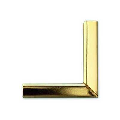 Фото - Уголок 35 мм 1 3/8 DESK DIARY, 5 мм (золото) гриф гантельный кмс d 30 мм обрезиненная ручка замок гайка кетлера l370 мм
