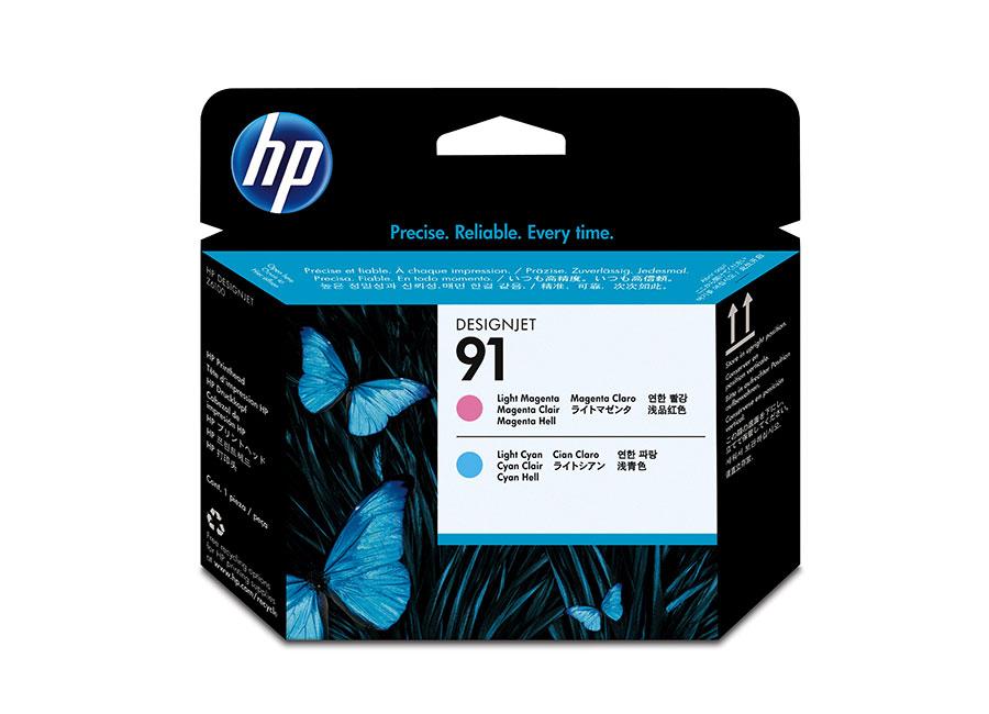 Печатающая головка и 2 картриджа для HP Designjet Z6100, Light Magenta/Light Cyan (P2V37A)