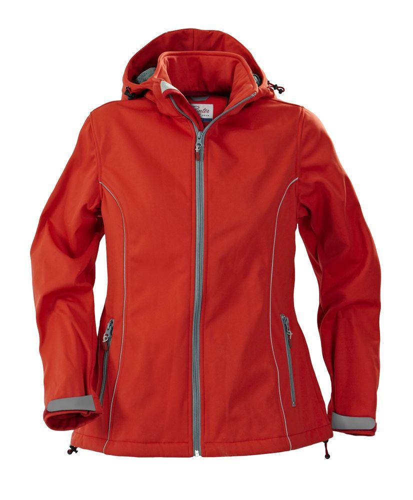 Куртка софтшелл женская HANG GLIDING, красная, размер S