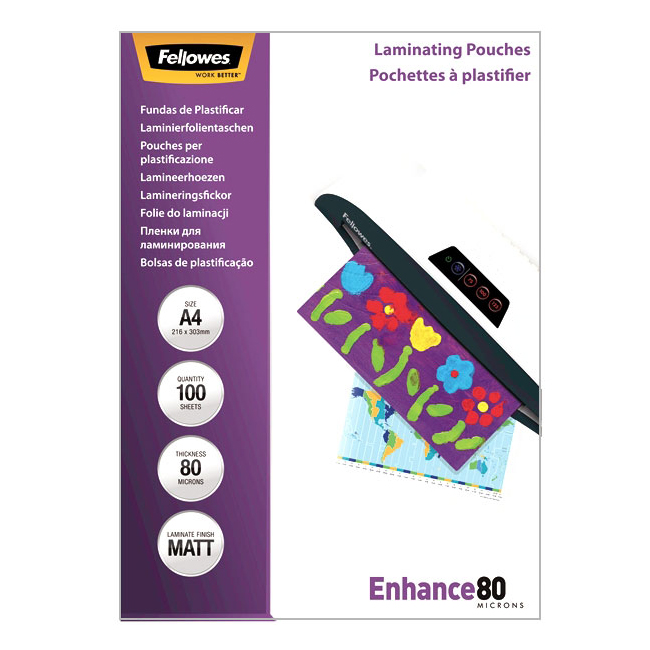 Фото - Пакетная пленка для ламинирования Fellowes A4, 216 x 303 мм, Матовая, 80 мкм, 100 шт пакетная пленка для ламинирования матовая 125 мкм 303 x 426 мм 100 шт