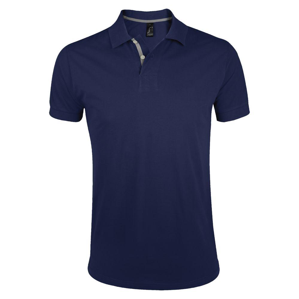 Рубашка поло мужская PORTLAND MEN 200 темно-синяя, размер L рубашка поло мужская portland men 200 темно синяя размер xxl