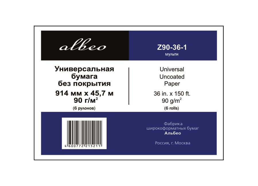 Фото - Albeo Universal Uncoated Paper 90 г/м2, 0.914x45.7 м, 50.8 мм, 6 рулонов (Z90-36-6) антон чехов палата 6 сборник рассказов