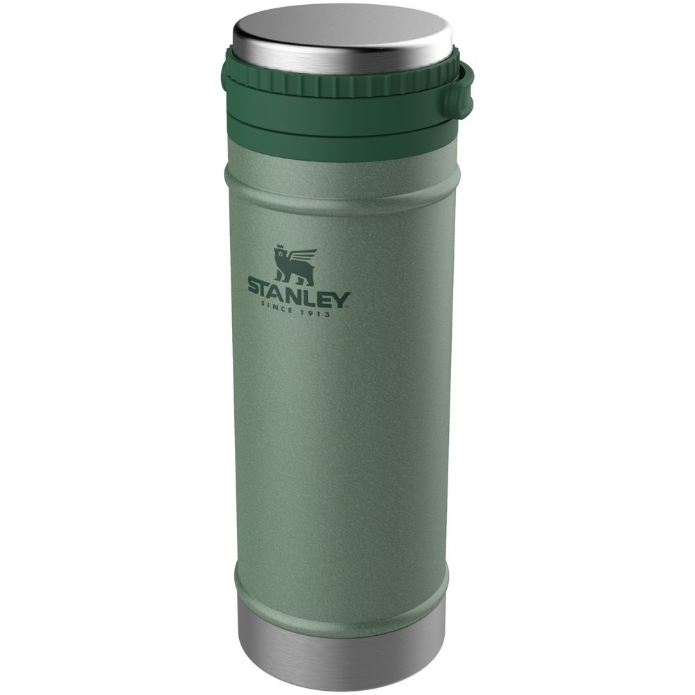 Термокружка с френч-прессом Stanley Classic, темно-зеленая зеленая термокружка stanley classic 0 47l one hand 2 0 10 06439 030