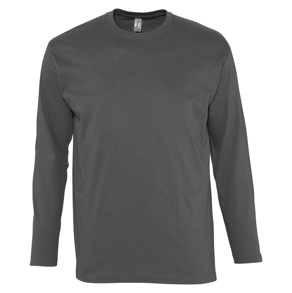 Футболка мужская с длинным рукавом MONARCH 150, темно-серая, размер 3XL футболка мужская с длинным рукавом monarch 150 серый меланж размер 3xl