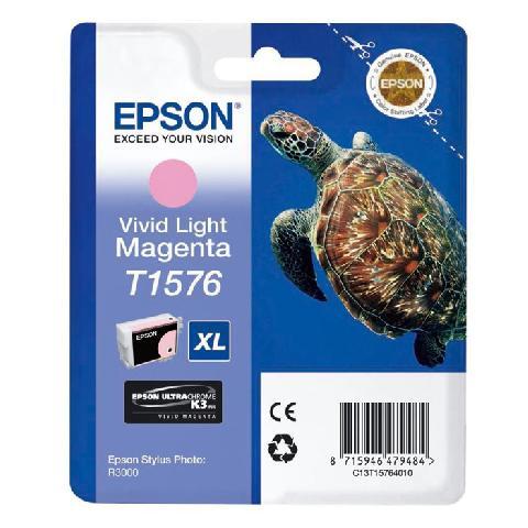 Фото - Картридж со светло-пурпурными чернилами Epson T1576 (C13T15764010) кордщетка dexx 35108 075 дисковая со шпилькой жгутированные пучки сталь0 5мм d75мм