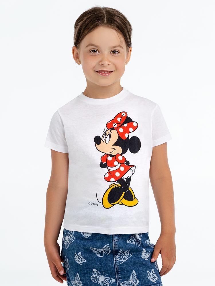 Футболка детская «Минни Маус. Jolly Girl», белая, на рост 96-104 см (4 года) свитшот детский минни маус so happy белый 4 года 96 104 см