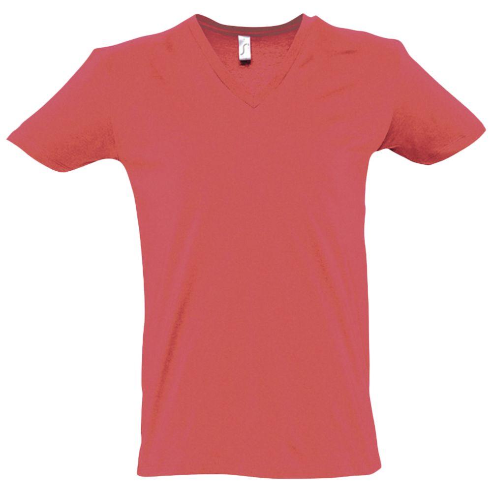Футболка мужская с глубоким V-обр. вырезом MASTER 150 розовый коралл, размер M футболка мужская с глубоким v обр вырезом master 150 красная размер m