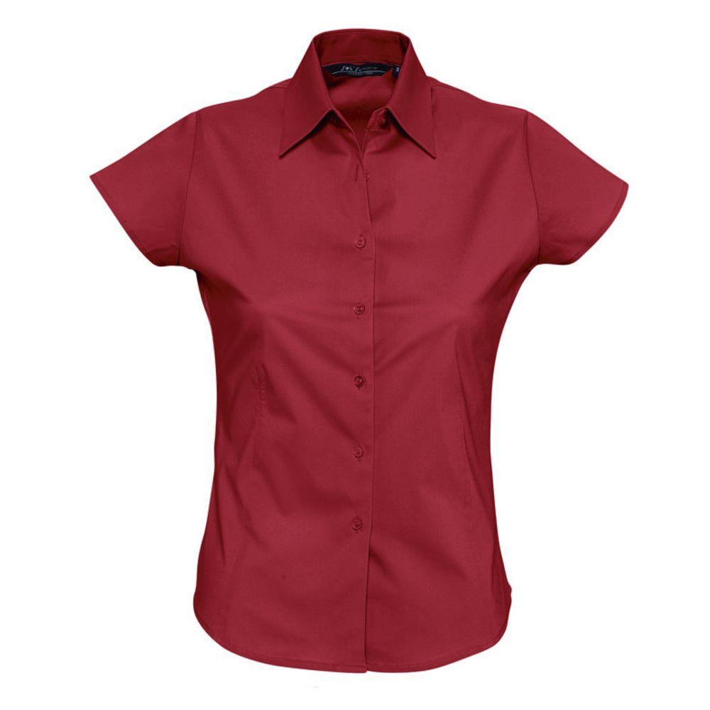 Фото - Рубашка женская с коротким рукавом EXCESS красная, размер L рубашка женская с коротким рукавом excess темно коричневая размер l