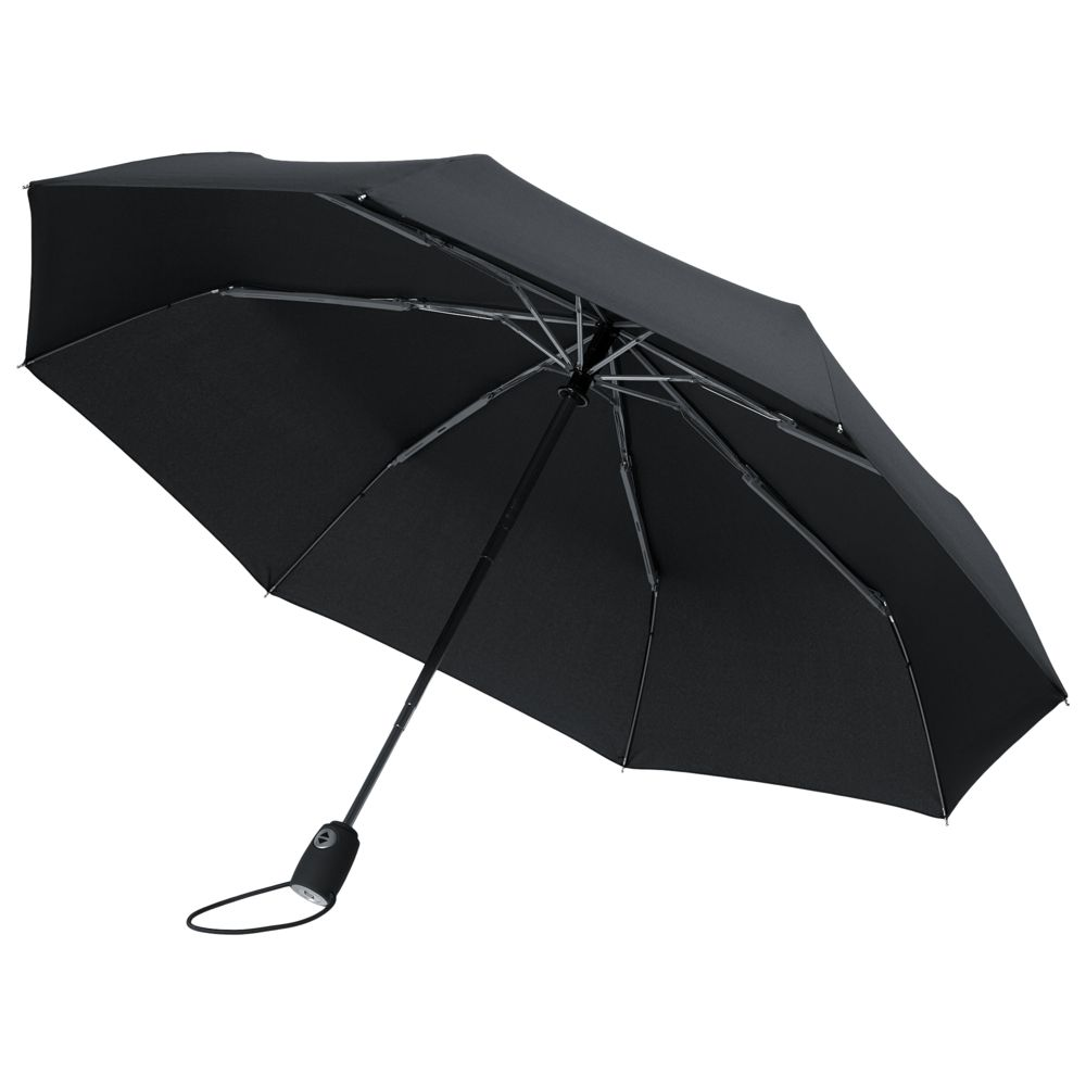 Фото - Зонт складной AOC, черный зонт складной fabretti fabretti fa003dwepqk2