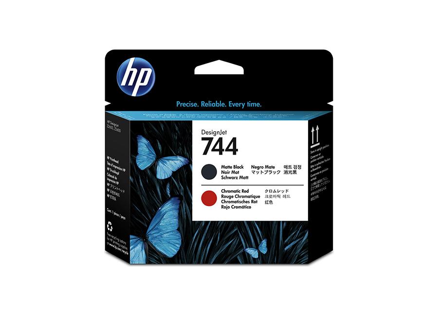 Фото - Печатающая головка HP Designjet 744 Matte Black & Chromatic Red (F9J88A) печатающая головка hp 731 designjet p2v27a
