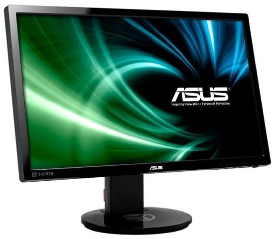 23.6 Asus VG248QE glossy black (90LMGG001Q022B1C) монитор asus vg248qe 24 черный