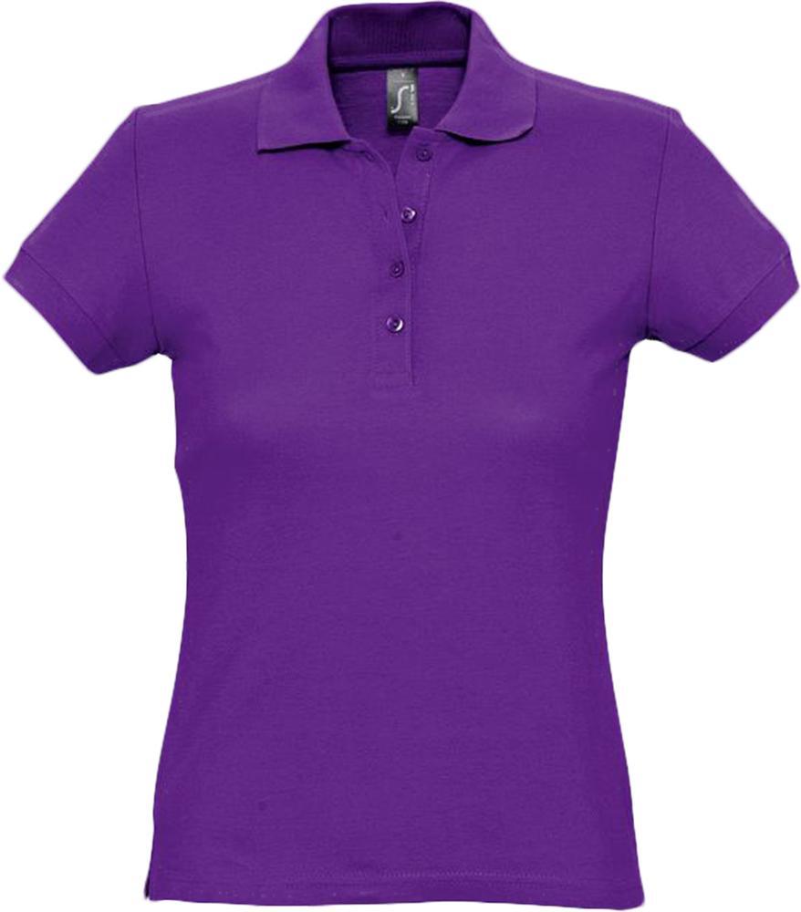 цена Рубашка поло женская PASSION 170 темно-фиолетовая, размер XL онлайн в 2017 году