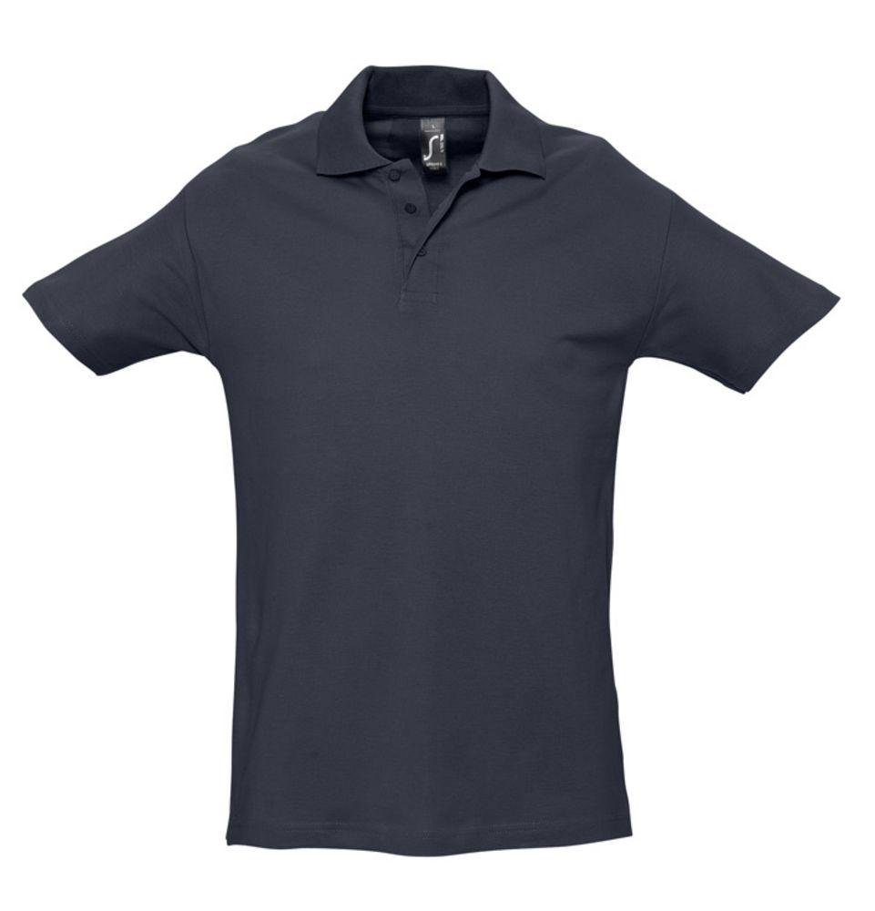 Рубашка поло мужская SPRING 210 темно-синяя (navy), размер XXL фото
