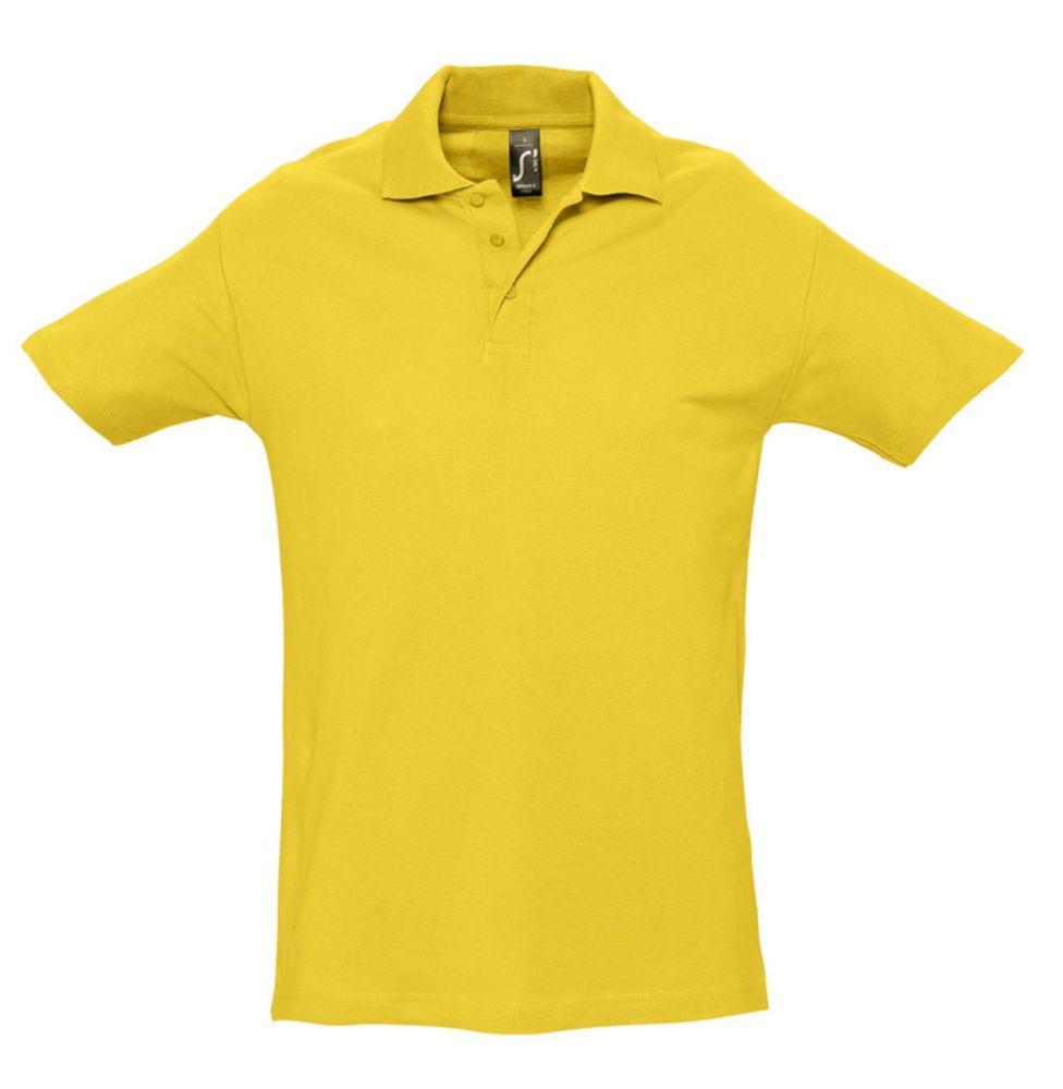Рубашка поло мужская SPRING 210 желтая, размер L