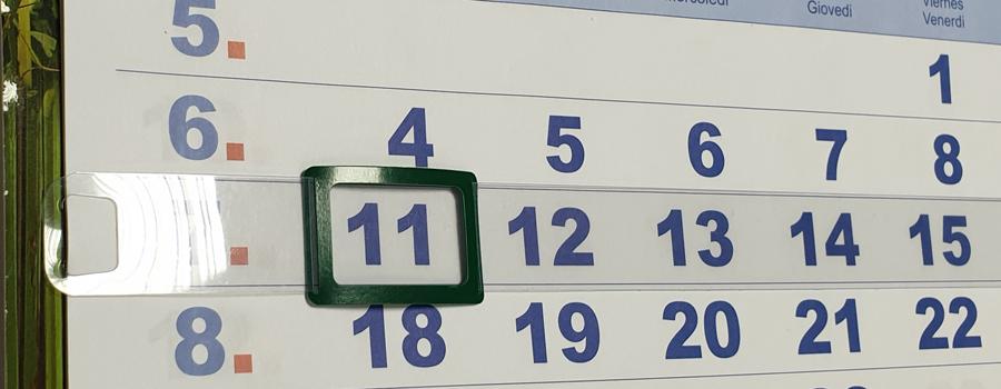 Календарные курсоры на жесткой ленте, 4-ый размер, 421-600 мм, 100 шт, зеленые фото
