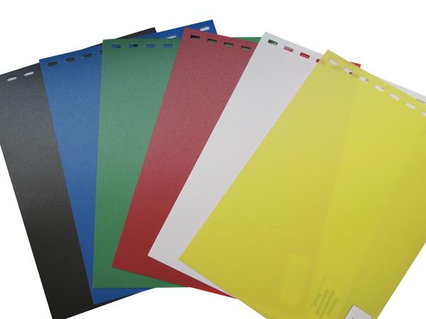 Обложки пластиковые, Непрозрачные (ПП), A4, 0.40 мм, Черный, 50 шт