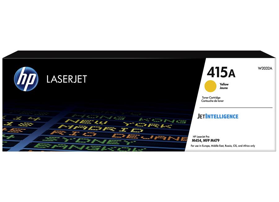 Фото - Картридж HP LaserJet 415A Yellow (W2032A) картридж hp cf412x желтый hp 410x для laserjet m452 477 yellow увеличенной емкости 5k