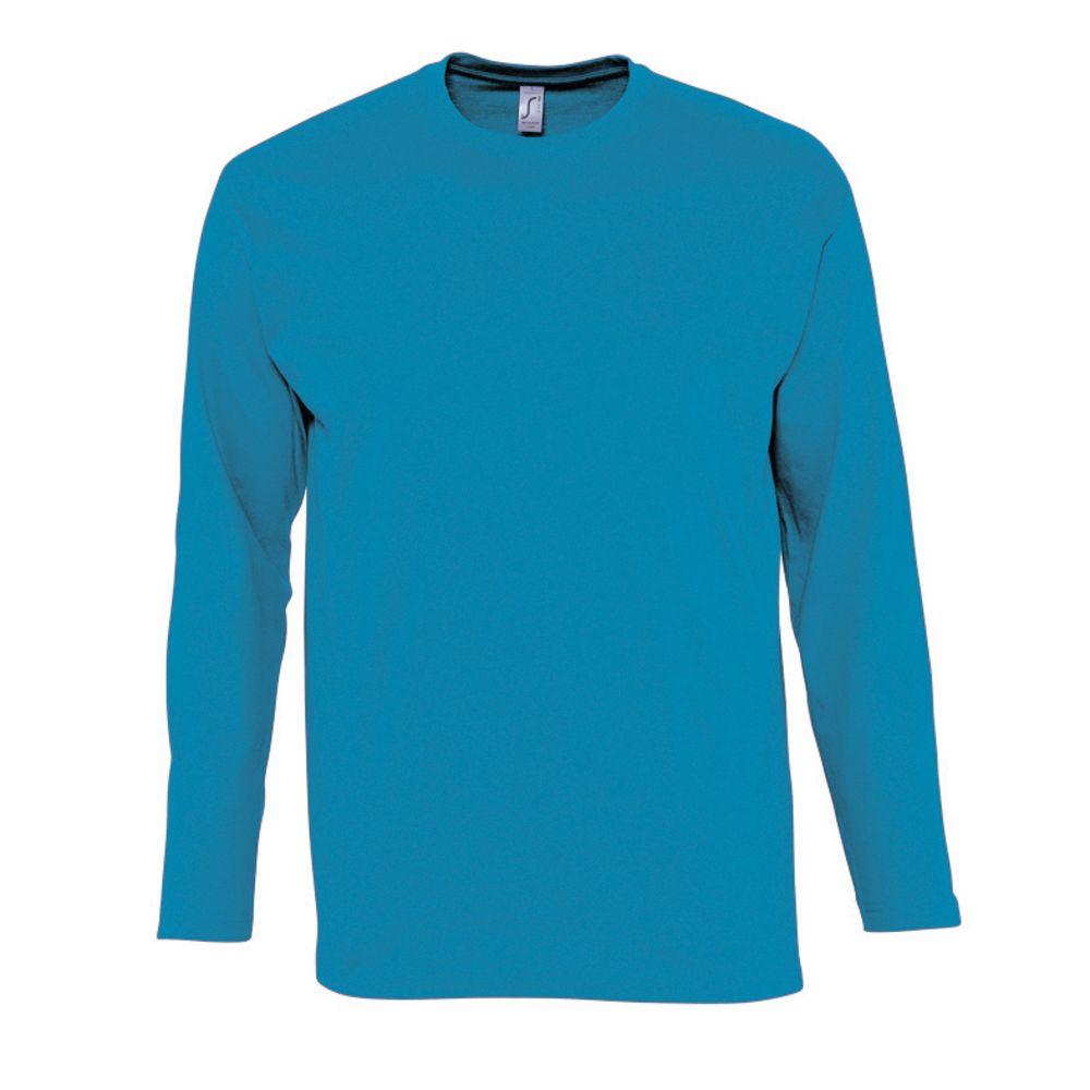 Фото - Футболка мужская с длинным рукавом MONARCH голубая, размер L l o l футболка l o l с длинным рукавом очки бирюза 128