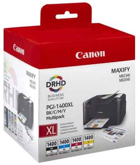 Фото - Комплект картриджей Canon PGI-1400XL мультипак (9185B004) комплект роликов canon exchange roller для dr6050c dr7550c 9050c 4009b001