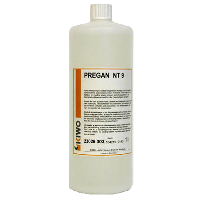 Фото - Обезжириватель для очистки трафаретных сеток KIWO Pregan NT 9 K, 1 л, концентрат промывочная жидкость 1 л