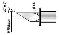 Нож ZEC-U3075 для резки толстых материалов (угол 32) плоттеров (оригинальный)