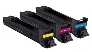 Фото - Комплект цветных тонер-картриджей A0DKJ51 комплект цветных тонер картриджей konica minolta a0v30nh