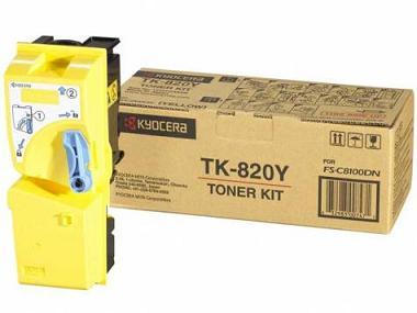 Фото - Тонер-картридж Kyocera TK-820Y тонер картридж kyocera tk 895c
