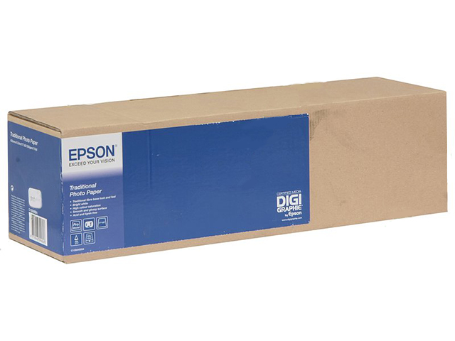Epson Traditional Photo Paper 64 300 г/м2, 1.626x15 м, 76 мм (C13S045107) epson ds transfer multi purpose 64 105 г м2 1 620x91 4 м 50 8 мм c13s045452