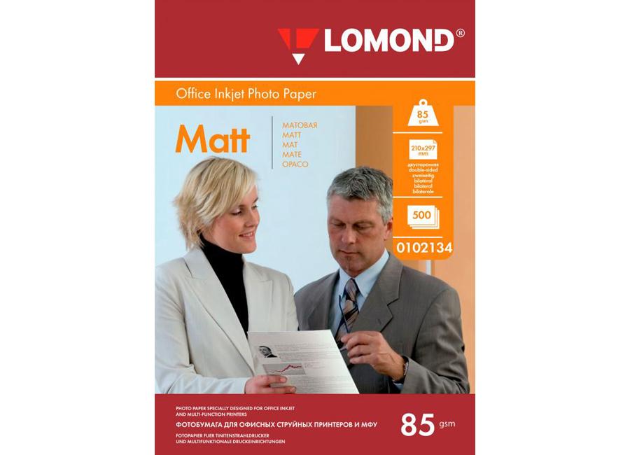 Фото - Lomond для струйной печати, A4, 85 г/м2, 500 листов, двусторонняя, матовая/матовая (0102134) lomond для струйной печати a2 100 г м2 25 листов двусторонняя матовая матовая 0102137