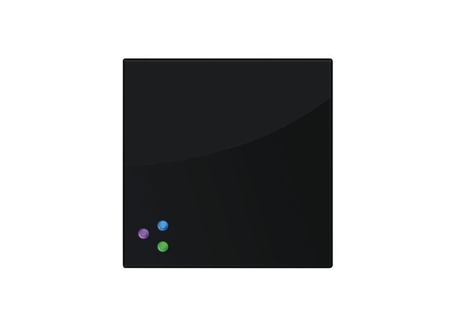 45x45 см, черная, 3 магнита (236736) fotoniobox лайтбокс голова давида 45x45 037