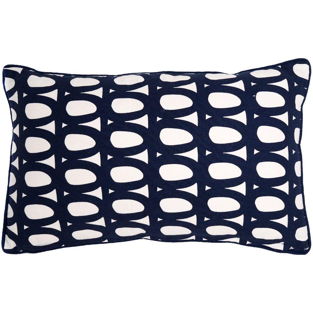 Чехол на подушку Twirl, прямоугольный, темно-синий темно синий стиль pu кожаный бумажник держателя карты откидная крышка чехол дляsamsung a510