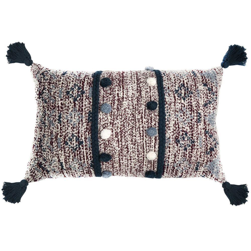 Подушка декоративная Ethnic, с помпонами и кисточками