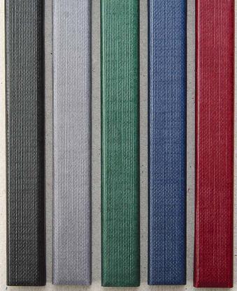 Цветные каналы с покрытием «ткань» O.CHANNEL А5 217 мм 7 мм, черные цветные каналы с покрытием ткань o channel а5 217 мм 24 мм черные