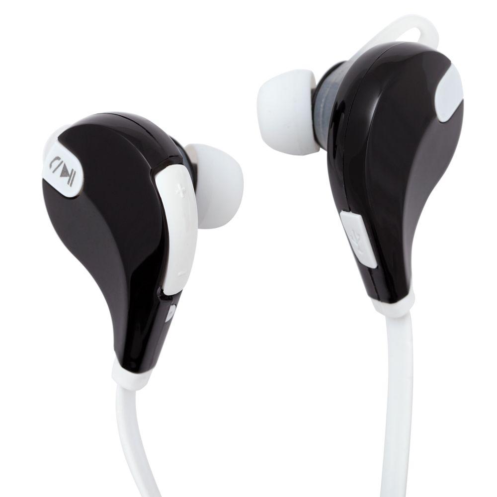 Cпортивные Bluetooth наушники Vatersay, черные с белым наушники awei a920bl grey