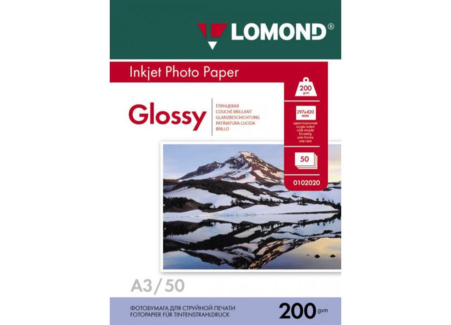 Фото - Lomond для струйной печати, A3, 200 г/м2, 50 листов, односторонняя, глянцевая (0102024) florentia фотоальбом кожаный 30х30 50 листов florentia al30637002