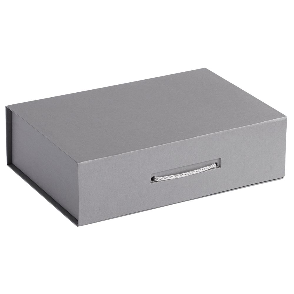 Коробка Case, подарочная, серебристая недорого