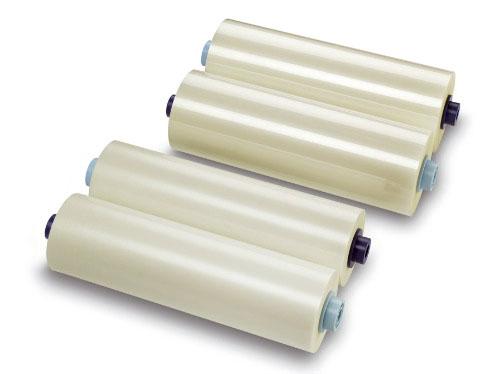 Рулонная пленка для ламинирования, Глянцевая, 75 мкм, 457 мм, 500 м, 3 (77 мм) рулонная пленка для ламинирования глянцевая 125 мкм 1290 мм 75 м 3 77 мм