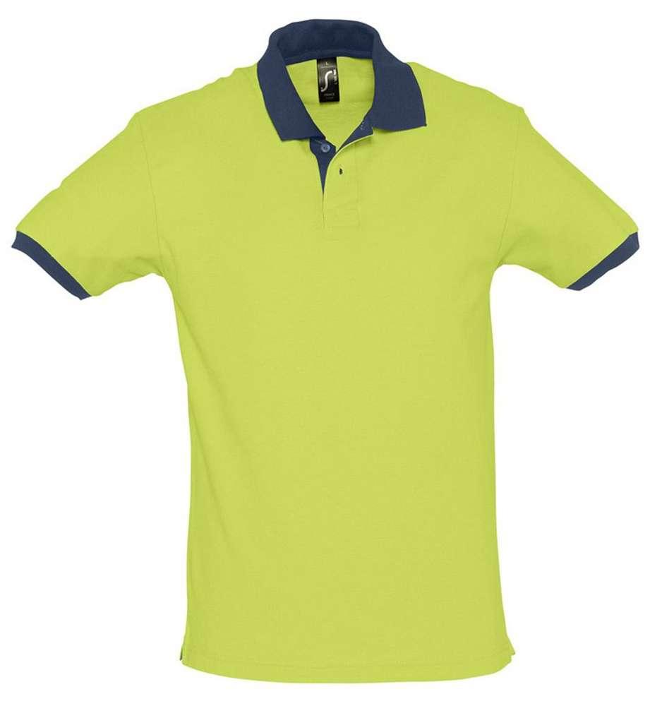 Рубашка поло Prince 190 зеленое яблоко с темно-синим, размер XL фото