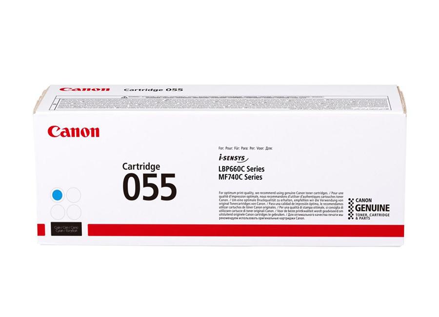 Тонер-картридж Canon Cartridge 055 C (cyan) (3015C002) картридж hp 891 10l lt cyan latex ink cartridge