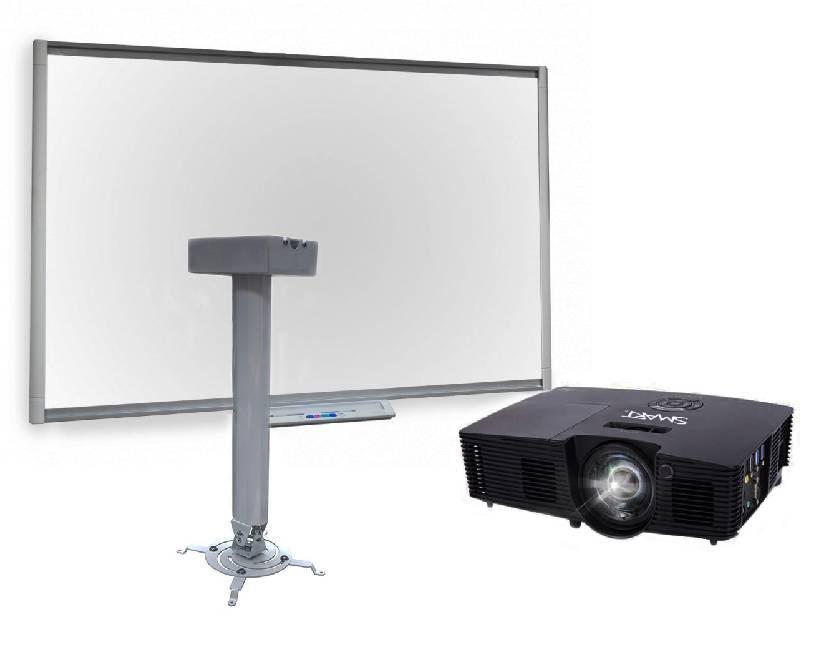 Интерактивная доска SMART Board SB480 с ключом активации Notebook, мультимедийным проектором V10 и креплением Digis DSM-14Kw