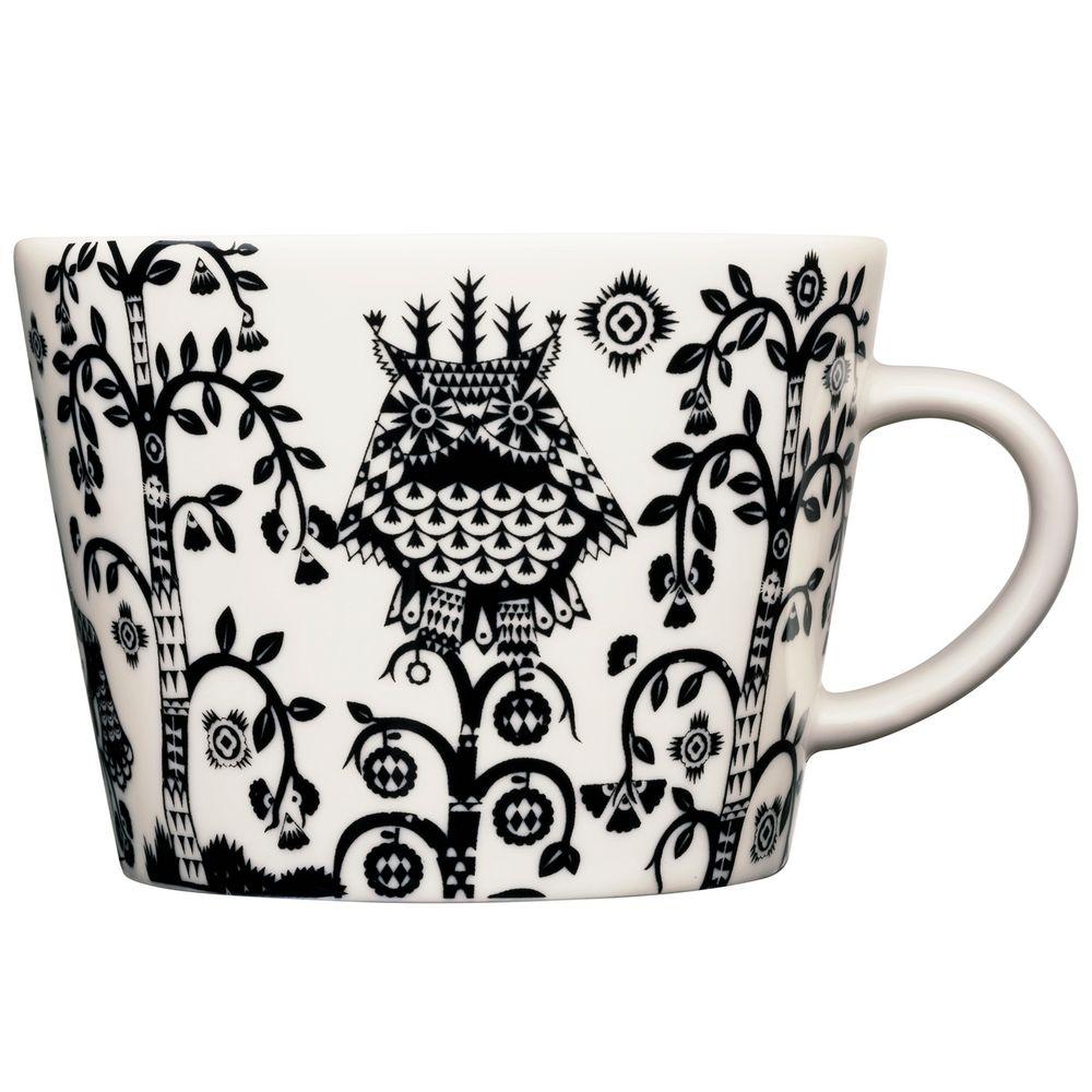 Чашка кофейная Taika, черная чашка кофейная teema белая