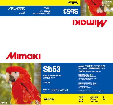 Чернила SB53 Yellow mimaki jv33 sb53 permanent chip for mimaki jv33 sb53 printer