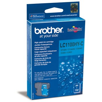 Картридж Brother LC1100HYC картридж brother lc1100hyc для brother dcp 6690cw голубой